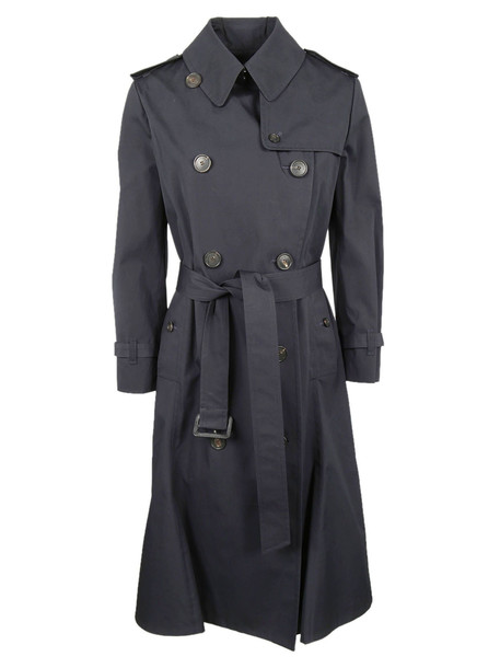 Balenciaga Belted Trench Coat in navy
