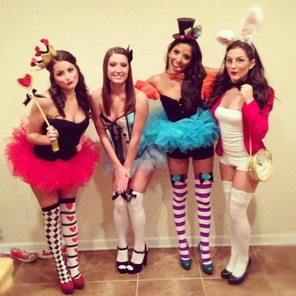 stockings high heels tutu skirt halloween alice in wonderland mad hatter red queen alice and wonderland rabbit halloween costume corset top high socks