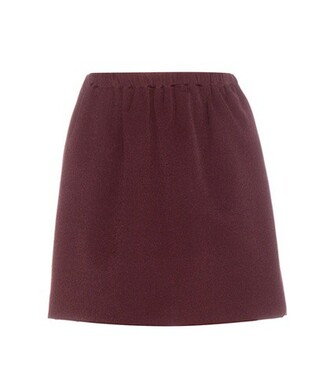 skirt wool red