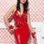 Latex Cherry Cocktail Dress   William Wilde UK
