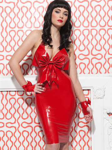 Latex Cherry Cocktail Dress | William Wilde UK