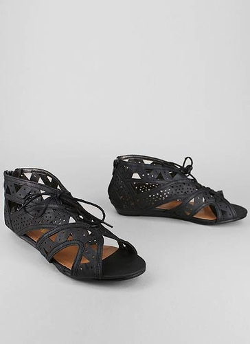 Cut out lace up sandal $25.90 in black