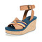 See by chloe mina cork wedge sandals
