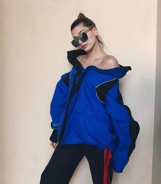 jacket hailey baldwin instagram pants model off-duty