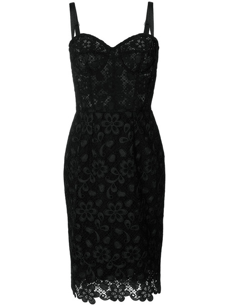 Dolce & Gabbana dress lace dress women spandex lace cotton black silk