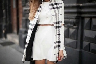 dress burberry jacket white dress love cute fasionpieces_