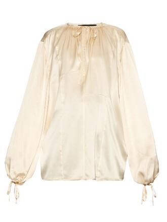 blouse silk satin top