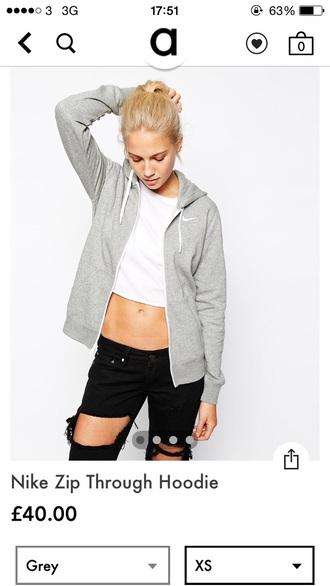 sweater asos hoodie women nike nike hoodie grey