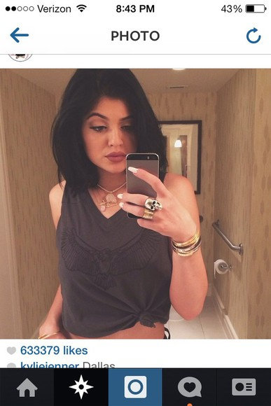 edgy cute kylie jenner tank top