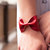 Bow Tie Cuff Bracelet Red Faux Leather Vegan Doctor Who Bowtie Scarf Wide Womens Bridesmaid