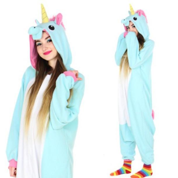 Pajamas Unicorn Kawaii Outfit Fashion Style Shirt