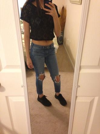 top shirt jeans sweater kim kardashian