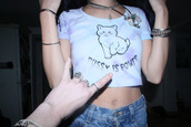 shirt,pussycat,cats,tumblr,t-shirt,grunge,hipster,pastel,crop tops,tie dye,shorts,jeans,jewels,kittycat,pale,grudge,pussy is power,white crop tops,tumblr shirt,pussy,graphic tee,white,cropped,purple,dress,black detail,cream color,sleeveless,maxi dress
