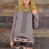 sweater,textured sweater,lightweight sweater,destroyed look sweater