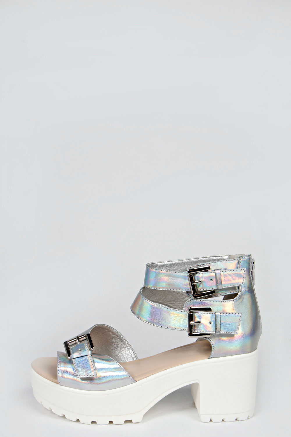 kayley Double Buckle Cleated Sandal