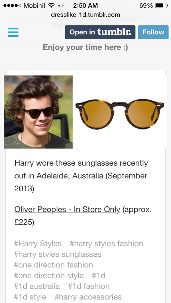 sunglasses harry styles