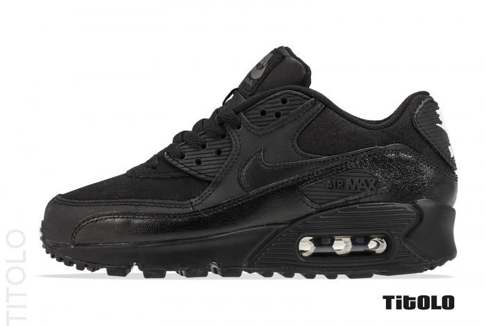 Nike Air Max 90 GS 307793-091 307793 091 Black/Dark Grey Titolo