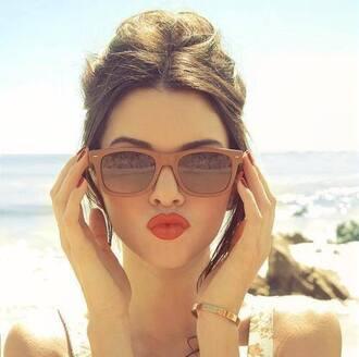 sunglasses matte brown hair accessory