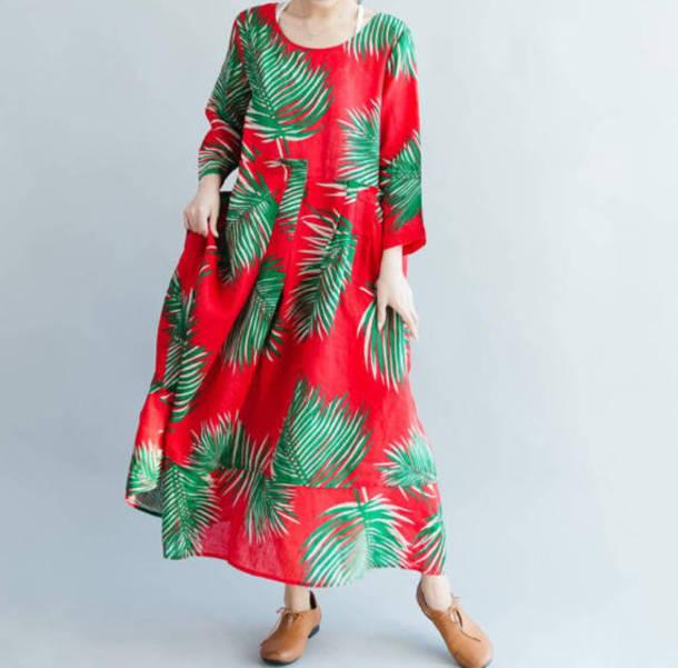 dress large size maxi dress
