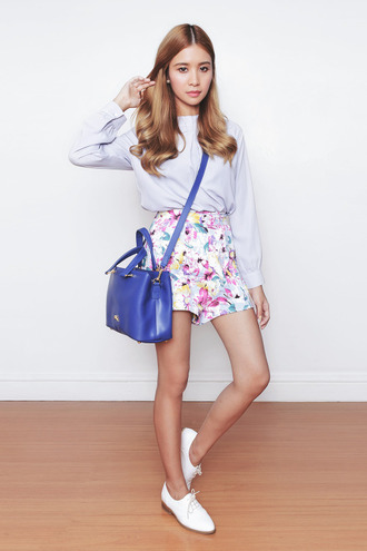 tricia gosingtian blogger top shorts shoes bag