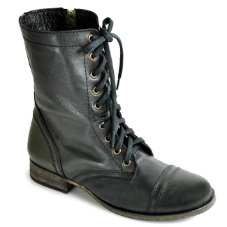 Madden - Troopa - Black Leather Combat Boot at Footnotesonline ...