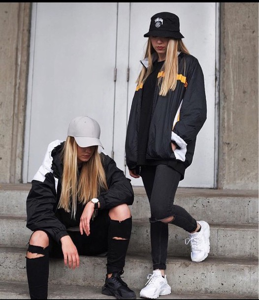 Jacket Shoes Bucket Hat Cap Black Outfit Wheretoget