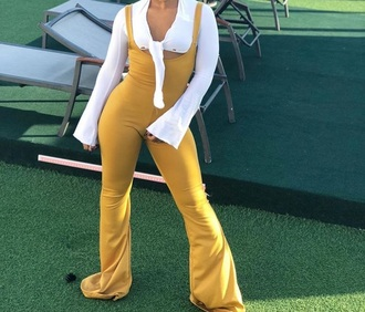 jumpsuit yellow overalls