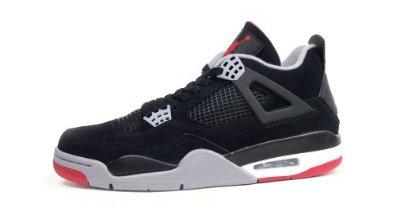 fd6427a8f7ac5 Amazon.com: Air Jordan 4 Retro (Black/Cement Grey-Fire Red) Mens ...
