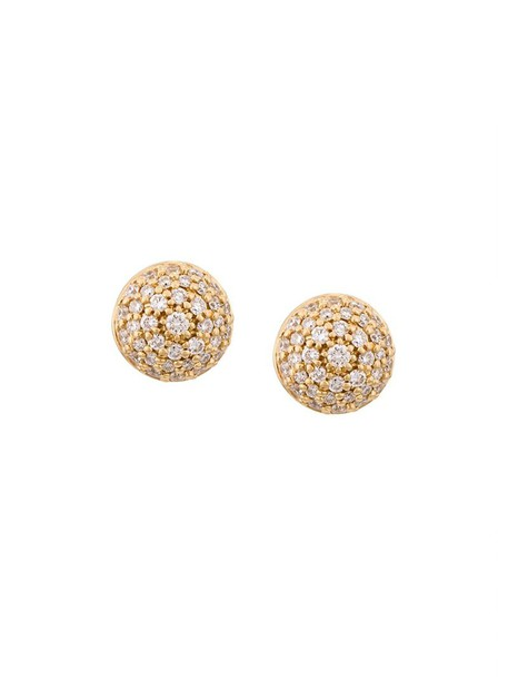 women earrings stud earrings gold yellow grey metallic jewels