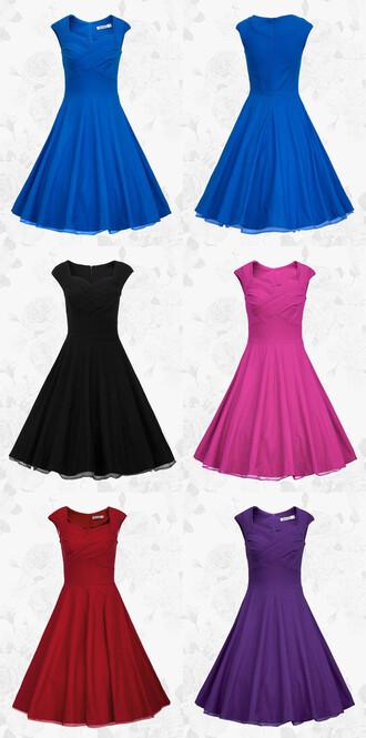 dress vintage style dress blue short dress homecoming dress bridesmaid evening dress party dress