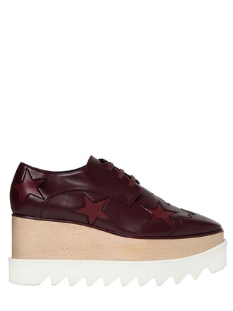 wedges leather wedges leather stars burgundy shoes