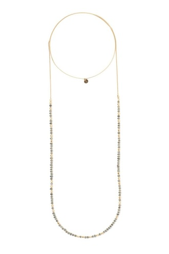 jewels tess and tricia necklace gold beaded dainty dainty necklace long necklace choker necklace