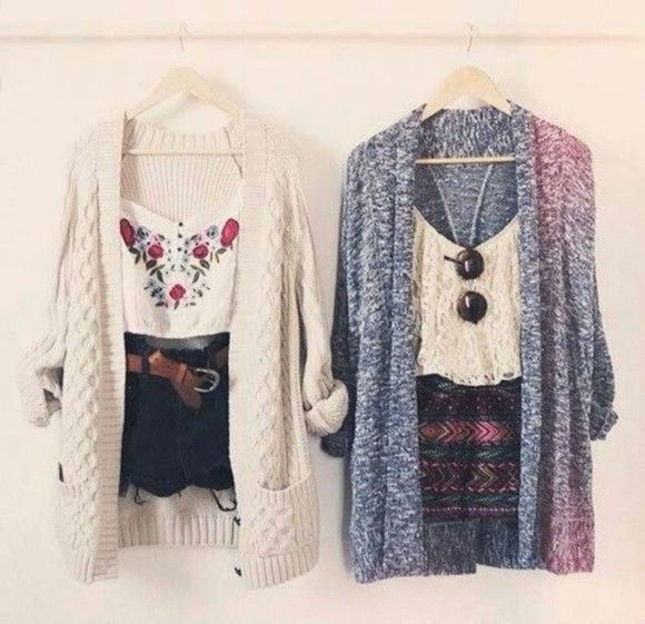 shorts cardigan blouse bluse