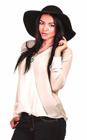 hat black floppy hat wool hat summer beach black hat