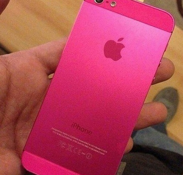 phone cover apple pink