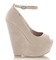 Ladies high heel wedges platform strappy peeptoe wedge party sandals shoes size