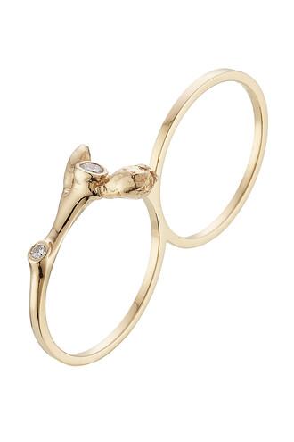 diamonds ring gold white yellow jewels