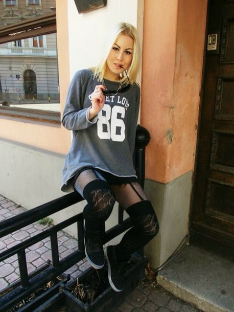 sweater hip hop grey