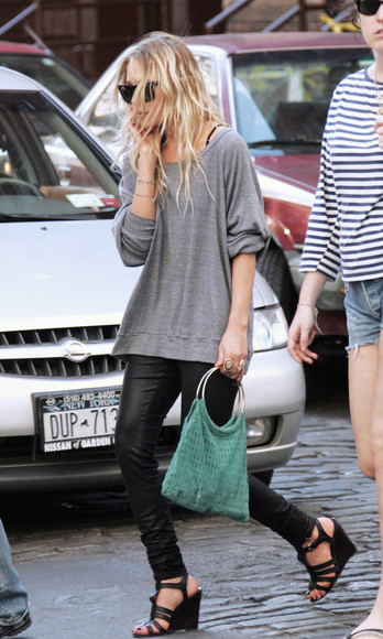olsen sisters sunglasses shoes top bag leggings