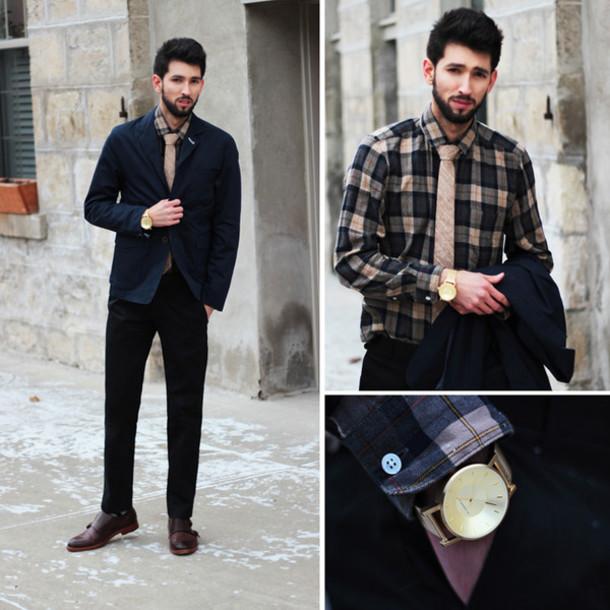 bobby raffin blogger tie menswear watch