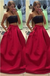 dress,red prom dress,long prom dress,two pieces prom dresses,a-line prom dress,beading prom dress,sweetheart prom dress,evening dress,prom dreses,prom gowns,handmade prom dress,satin prom dress,cheap prom dress,simple prom dress,sparkly prom dress,modest prom dres,elegant prom dress,charming prom dresses,classy prom dress,okdresses