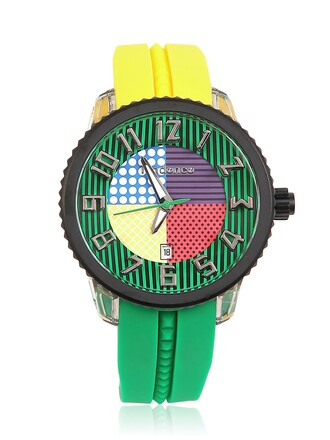 watch green yellow jewels