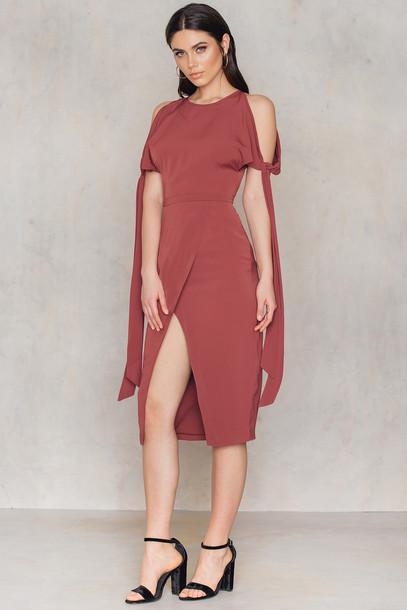 Keepsake dress rust