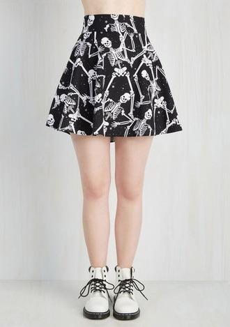 skirt skull skirts halloween cute skirt