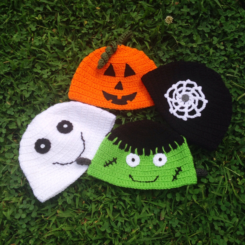 Halloween Hats, Beanie, Halloween Accessories, truck or treat , Cute Halloween