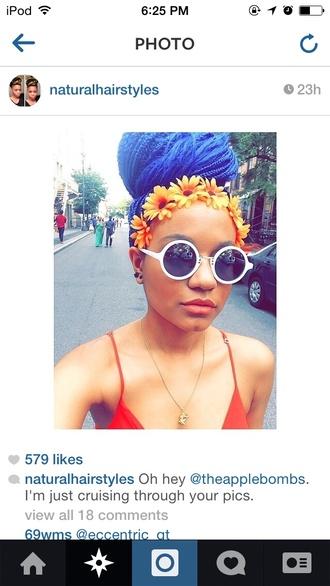 hair accessory flowers headband flower crown orange