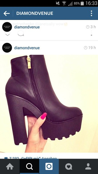 shoes black heels high heels plateau high heels