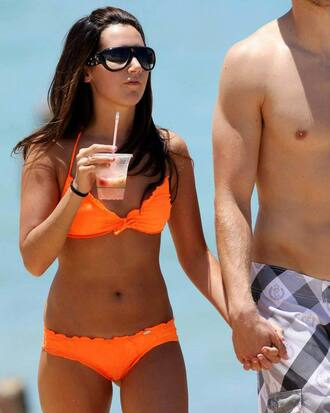 ashley tisdale bikini orange swimwear