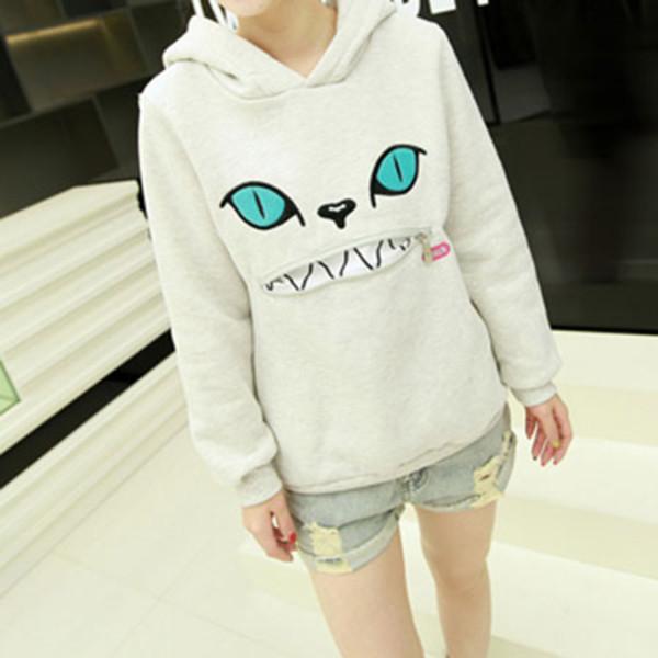 shirt sweatshirt cute hood