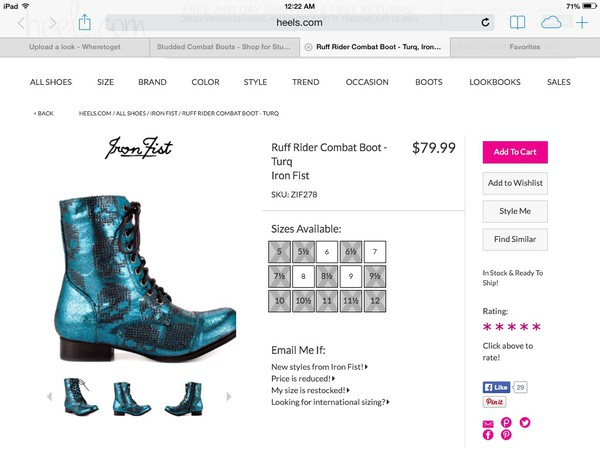 shoes blue combat boots turquoise iron fist